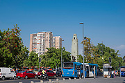 Plaza of the Central Market (Mercado Centro), Santiago, Chile.