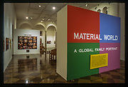Fullerton, CA.  Material World: A Global Family Portrait exhibit at the Fullerton Museum.
