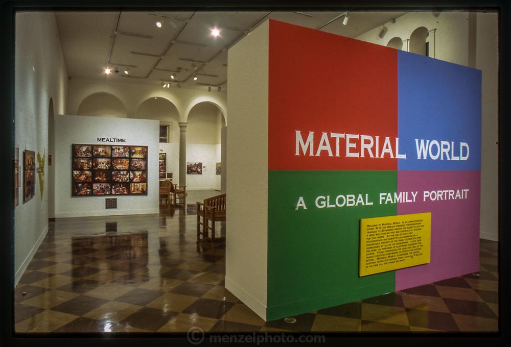 Fullerton, CA.  Material World: A Global Family Portrait exhibit at the Fullerton Museum.