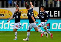 Fotball Herrer Tippeligaen Eliteserien 2015<br /> Marienlyst stadion 11.4.2015<br /> <br /> Strømsgodset vs Mjøndalen<br /> <br /> Resultat <br /> <br /> Foto: Robert Christensen Digitalsport<br /> <br /> Godset Mounir Hamoud scorer og jubler<br /> <br /> MIF