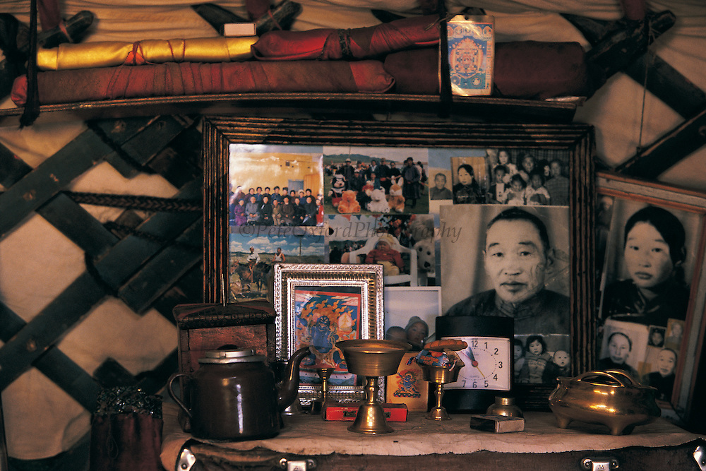 Shrine in Ger<br /> Mongolia