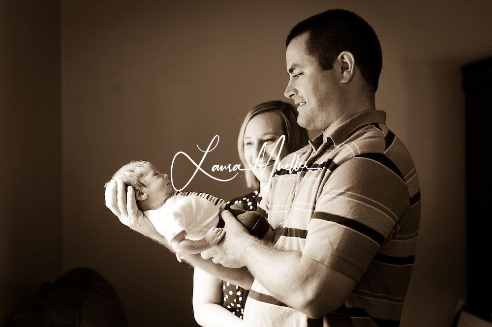 20110513 Jennifer, Chris and Wade at 16 days old.  © Laura Mueller - www.lauramuellerphotography.com