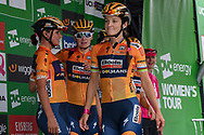 Lizzie Deigan (GBR) riding for Boels Dolmans Cycling Team during sign-on  before the start of the OVO Energy Women's Tour, London Stage, at Regent Street, London, United Kingdom on 11 June 2017. Photo by Martin Cole.