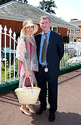STEPHEN QUIN and his wife KIMBERLEY FORTIER at the King George VI and The Queen Elizabeth Diamond Stakes sponsored by De Beers for the 33rd year held at Ascot Racecourse, Berkshire on July 24th 2004.