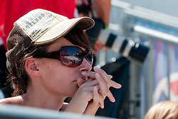Girl with sunglasses and hat at A1 Beach Volleyball Grand Slam tournament of Swatch FIVB World Tour 2011, on August 3, 2011 in Klagenfurt, Austria. (Photo by Matic Klansek Velej / Sportida)