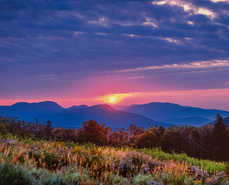 Sunrise from Kancamaugus Pass, White Mountains, Swift River Valley, Livermore, NH