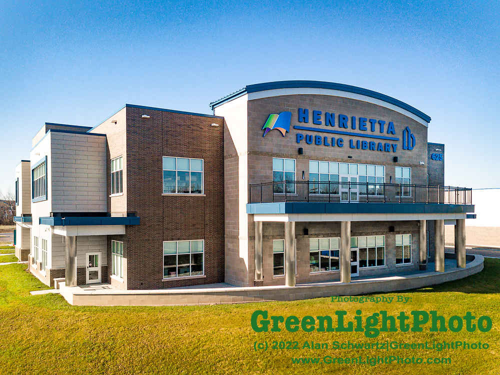 April 3, 2020: Retouched image looking South of the Henrietta Library located at 625 Calkins Rd, Rochester, NY 14623.