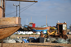 Fishing boats, Hastings, East Sussex UK Oct 2016