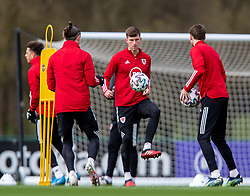 CARDIFF, WALES - Monday, March 29, 2021: Wales' Chris Mepham during a training session at the Vale Resort ahead of the FIFA World Cup Qatar 2022 Qualifying Group E game against the Czech Republic. (Pic by David Rawcliffe/Propaganda)