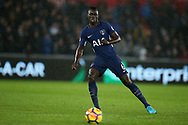 Davinson Sanchez of Tottenham Hotspur in action. Premier league match, Swansea city v Tottenham Hotspur at the Liberty Stadium in Swansea, South Wales on Tuesday 2nd January 2018. <br /> pic by  Andrew Orchard, Andrew Orchard sports photography.