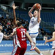 Anadolu Efes's Dusko Savanovic (2ndR) during their Turkish Basketball League match Anadolu Efes between Erdemir at Arena in Istanbul, Turkey, Wednesday, January 28, 2012. Photo by TURKPIX