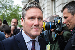 © Licensed to London News Pictures. 07/05/2019. London, UK. Shadow Secretary of State for Exiting the European Union Keir Starmer MP arrives at the Cabinet Office for talks with the government on reaching a compromise Brexit deal. Photo credit: Rob Pinney/LNP