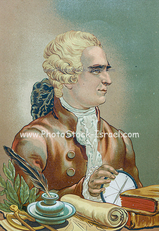 Jean-Baptiste le Rond d'Alembert (16 November 1717 – 29 October 1783) was a French mathematician, mechanician, physicist, philosopher, and music theorist. From the book La ciencia y sus hombres : vidas de los sabios ilustres desde la antigüedad hasta el siglo XIX T. 3  [Science and its men: lives of the illustrious sages from antiquity to the 19th century Vol 3] By by Figuier, Louis, (1819-1894); Casabó y Pagés, Pelegrín, n. 1831 Published in Barcelona by D. Jaime Seix, editor , 1879 (Imprenta de Baseda y Giró)