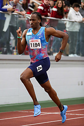 BU Terrier Indoor track meet<br /> Jeffrey Gibson, Bahamas, Nike, 500m wins