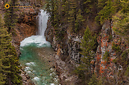 Waterfall on Falls Creek in the Lewis and Clark National Forest, Montana, USA
