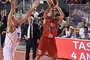 DESCRIZIONE : Roma Lega serie A 2013/14 Acea Virtus Roma Grissin Bon Reggio Emilia<br /> GIOCATORE : Cinciarini Andrea<br /> CATEGORIA : tiro tre punti<br /> SQUADRA : Grissin Bon Reggio Emilia<br /> EVENTO : Campionato Lega Serie A 2013-2014<br /> GARA : Acea Virtus Roma Grissin Bon Reggio Emilia<br /> DATA : 22/12/2013<br /> SPORT : Pallacanestro<br /> AUTORE : Agenzia Ciamillo-Castoria/ManoloGreco<br /> Galleria : Lega Seria A 2013-2014<br /> Fotonotizia : Roma Lega serie A 2013/14 Acea Virtus Roma Grissin Bon Reggio Emilia<br /> Predefinita :