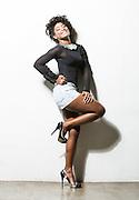 Belo Horizonte_MG, Brasil.<br /> <br /> Retrato da atriz Erika Januza.<br /> <br /> Erika Januza actress.<br /> <br /> Foto: RAFAEL MOTTA / NITRO