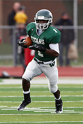 12 November 2011:  Cameron Allen during an NCAA division 3 football game between the Augustana Vikings and the Illinois Wesleyan Titans in Tucci Stadium on Wilder Field, Bloomington IL