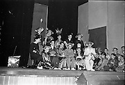 "30/03/1963<br /> 03/30/1963<br /> 30 March 1963<br /> Schools Drama Festival at The Gate Theatre, Dublin.<br /> Picture shows pupils of Scoil na nOg, Glanmire, Co. Cork, on stage after performing ""An Prionnsa a Goideadh""."