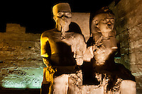 Egypt. Luxor Temple is a large temple complex founded in 1400 BC.