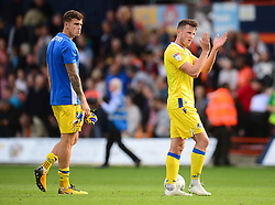 Ollie Clarke of Bristol Rovers claps the traveling fans. - Mandatory by-line: Alex James/JMP - 15/09/2018 - FOOTBALL - Kenilworth Road - Luton, England - Luton Town v Bristol Rovers - Sky Bet League One
