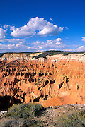 Afternoon light on colorful erosion in the Cedar Breaks Amphitheater, Cedar Breaks National Monument, Utah