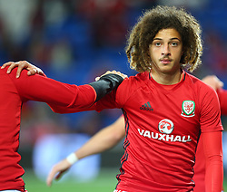 October 9, 2017 - Cardiff City, Walles, United Kingdom - Ethan Ampadu of Wales .during FIFA World Cup group qualifier match between Wales and Republic of Ireland at the Cardiff City Stadium, Cardiff, Wales on 9 October 2017. (Credit Image: © Kieran Galvin/NurPhoto via ZUMA Press)