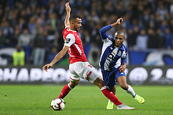 November 10, 2018 - Porto, Porto, Portugal - Porto's Algerian forward Yacine Brahimi (R) vies with Sporting Braga's Brazilian midfielder Fransergio (L) during the Premier League 2018/19 match between FC Porto and SC Braga, at Dragao Stadium in Porto on November 9, 2018. (Credit Image: © Dpi/NurPhoto via ZUMA Press)