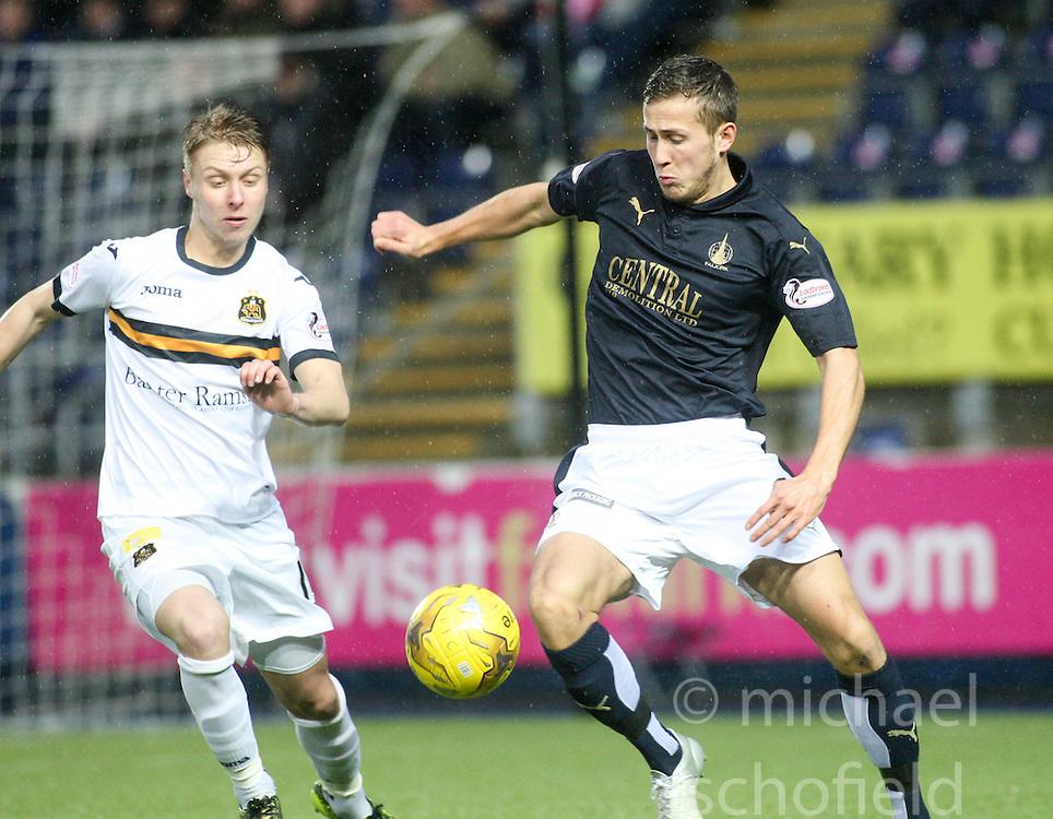 Falkirk's Will Vaulks. <br /> Falkirk 1 v 0 Dumbarton, Scottish Championship game played 26/12/2015 at The Falkirk Stadium.