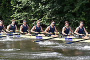Henley on Thames, England, United Kingdom, 3rd July 2019, Henley Royal Regatta, Heat of the Temple Challenge Trophy,  University of Michigan, USA, move away from the start,  on Henley Reach, [© Peter SPURRIER/Intersport Image]<br /> <br /> 11:00:10 1919 - 2019, Royal Henley Peace Regatta Centenary,