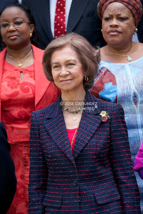 """Queen Sofia attends the Opening of the exhibition """"Women of Africa"""" at Architect School on May 29, 2013 in Madrid"""