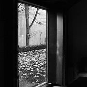 Paris, France, 2004: Room at ground  floor, Jaoul house (1952) at 82 bis, rue de Longchamp - Le Corbusier arch - . Photographs by Alejandro Sala, (Historical archive AS)