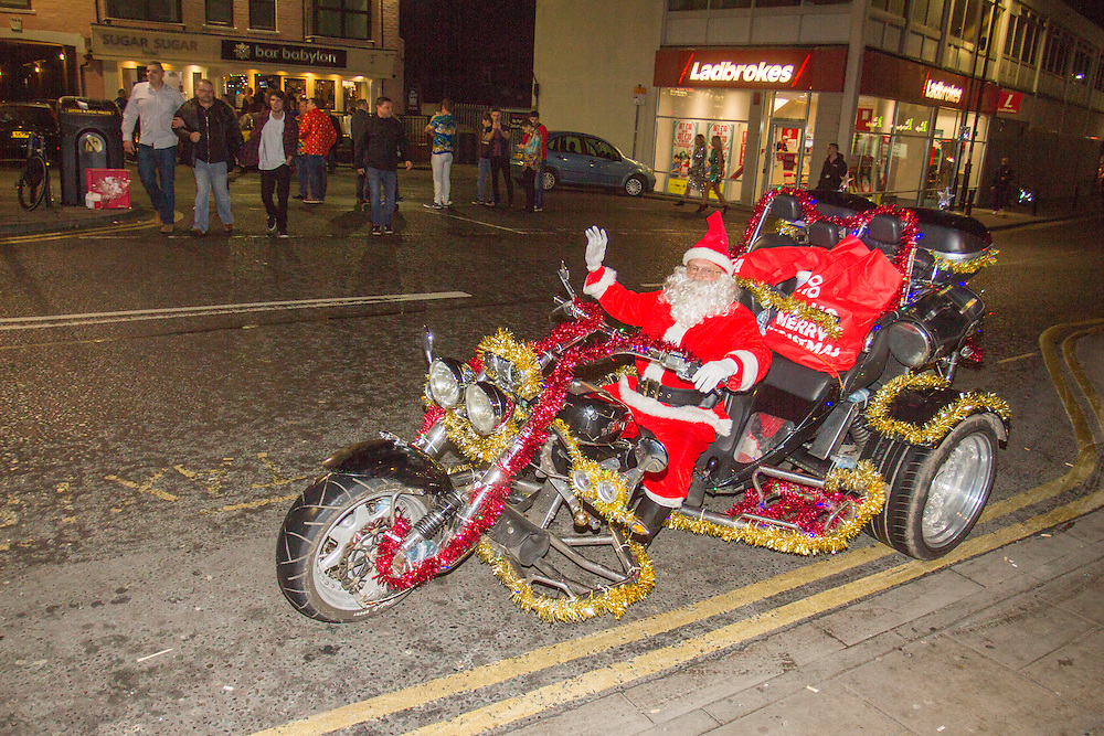 Father Christmas in Cleethorpes near Grimsby