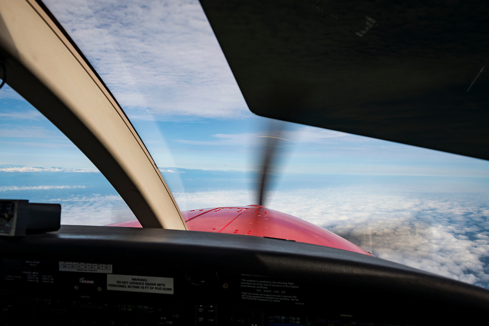 View from the cockpit of a Quest Kodiak 100 flying from the town of Madang to the village of Likan in Papua New Guinea.<br /> <br /> (JUNE 20, 2019)