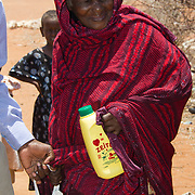 Cooking oil and maize distribution during the East African drought. Wajir, North Eastern Province, Kenya.