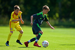 WREXHAM, WALES - Monday, July 22, 2019: Harvey Scott of North during the Welsh Football Trust Cymru Cup 2019 at Colliers Park. (Pic by Paul Greenwood/Propaganda)