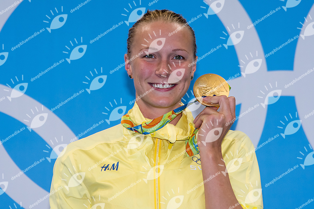 Sjostrom Sarah SWE World Record and Gold Medal<br /> 100 butterfly women<br /> Rio de JaneiroXXXI Olympic Games <br /> Olympic Aquatics Stadium <br /> Swimming finals 07/08/2016<br /> Photo Giorgio Scala/Deepbluemedia/Insidefoto