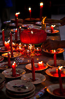 Candle offerings at Tian Hou Temple in Saigon.