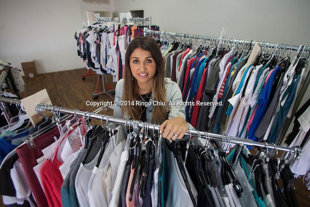 Meredith Garrett, founder of apparel and manufacturing company Signorelli. (Photo by Ringo Chiu/PHOTOFORMULA.com)