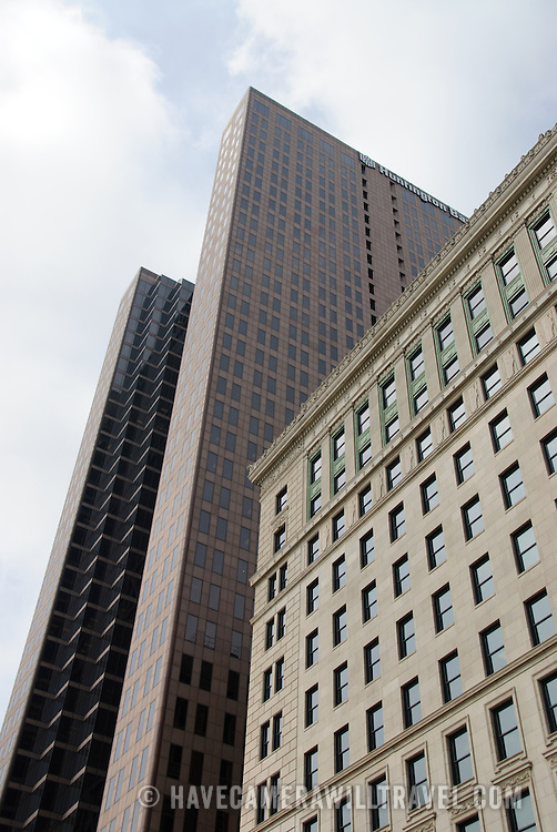 Modern office buildings in downtown Columbus, Ohio