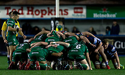 James Mitchell of Connacht waits to put in<br /> <br /> Photographer Simon King/Replay Images<br /> <br /> Guinness PRO14 Round 14 - Cardiff Blues v Connacht - Saturday 26th January 2019 - Cardiff Arms Park - Cardiff<br /> <br /> World Copyright © Replay Images . All rights reserved. info@replayimages.co.uk - http://replayimages.co.uk