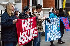 2018-02-13 SWNS Assange watch at Ecuador Embassy
