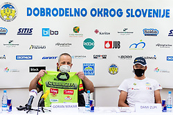 Goran Makar and Dami Zupi at press conference of charity event Dobrodelnost okoli Slovenije, on April 20, 2021 in Galerija Druzina, Ljubljana, Slovenia. Photo by Matic Klansek Velej / Sportida