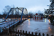 FAYETTEVILLE, ARKANSAS:  War Eagle Mill and Devil's Den State Park with flooding.  The Mill and the old bridge are almost under water.