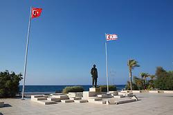 Girne Harbor Statue of Atatürk