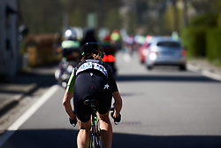 Marcella Toldi (BRA) chases back to the bunch at La Flèche Wallonne Femmes 2018, a 118.5 km road race starting and finishing in Huy on April 18, 2018. Photo by Sean Robinson/Velofocus.com
