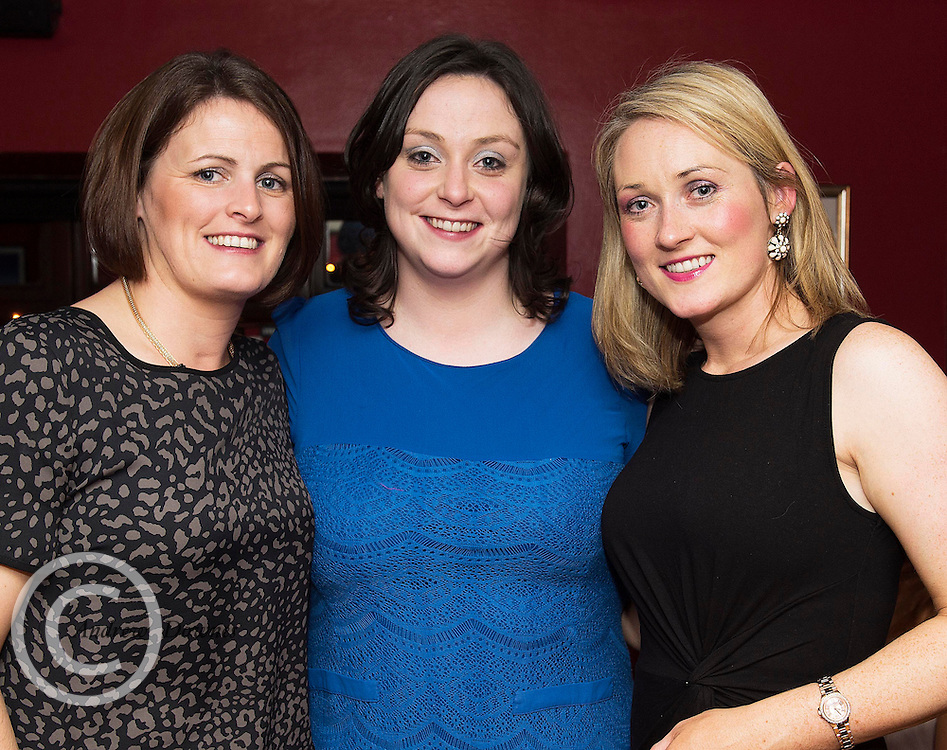 07/12/2014 Deidre Huban, Ciara Huban and Pamela Conneely at The Pier Head, Kinvara for Oiche Nollaig na mban (night out for the chicks!) started out as a fun Christmas night for the ladies. Organised by Mary Moloney, Ruth sexton, Valerie Forkan, Sarah Linnane & Jackie Veale, the women quickly decided to make it a fundraiser. Being a women's night the obvious charity of choice was breast cancer awareness, the NBCRI was the chosen beneficiary.  120 participated in the chain link, all sporting a variety of pink bras! Some Christmas carols at the village tree while hanging the bras on the tree was another highlight! PHOTO:Andrew Downes