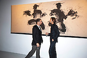 ANDY VALMORBIDA; VLADIMIR RESTOIN ROITFELD, Richard Hambleton private view.- New York- Godfather of Street art presented by Vladimir Restoin Roitfeld and Andy Valmorbida in collaboration with Giorgio armani. The Old Dairy. London. 18 November 2010. -DO NOT ARCHIVE-© Copyright Photograph by Dafydd Jones. 248 Clapham Rd. London SW9 0PZ. Tel 0207 820 0771. www.dafjones.com.