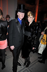 PHILIP TREACY and ROISIN MURPHY at Hats - an antology of Stephen Jones held at the V&A, London on 23rd February 2009.