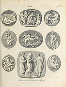 Gems of Historical and Allegorical Subjects Gem - Art highly prized for its beauty or perfection Copperplate engraving From the Encyclopaedia Londinensis or, Universal dictionary of arts, sciences, and literature; Volume VIII;  Edited by Wilkes, John. Published in London in 1810.